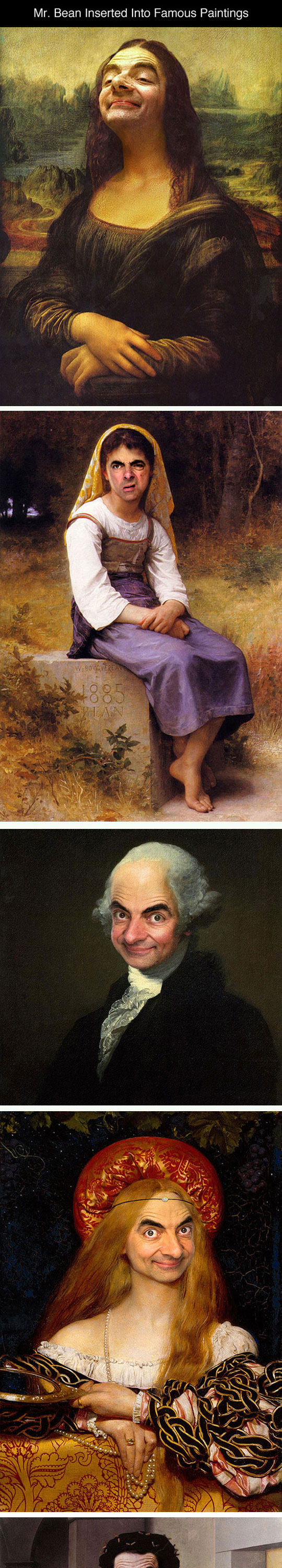 Photoshopping Mr. Bean Into Famous Paintings