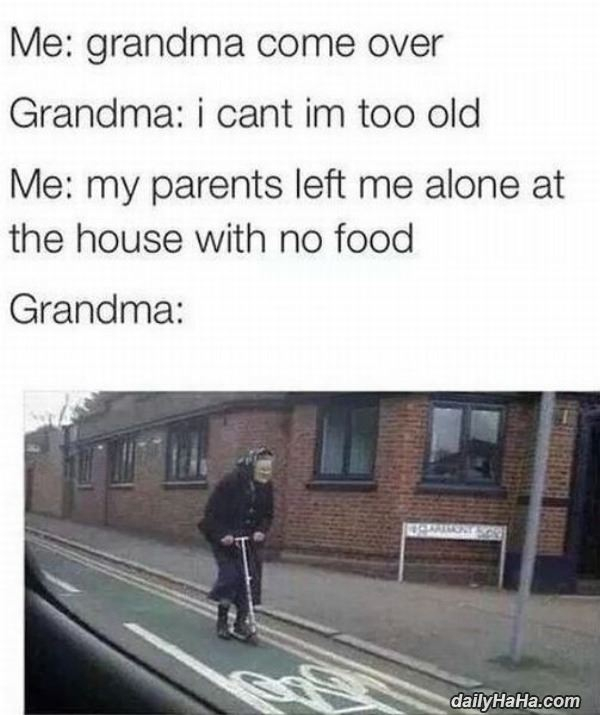 Grandma on the run