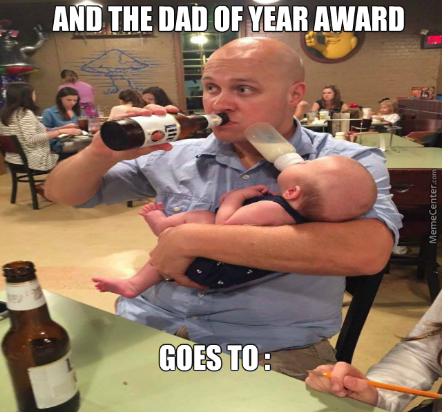 Why Does The Baby Look Older Than His Dad ?
