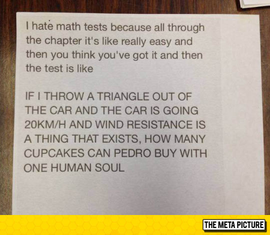 Math Tests In A Nutshell