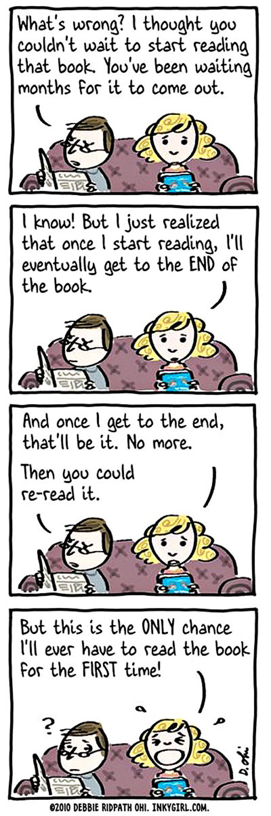 Whenever I Read A New Book