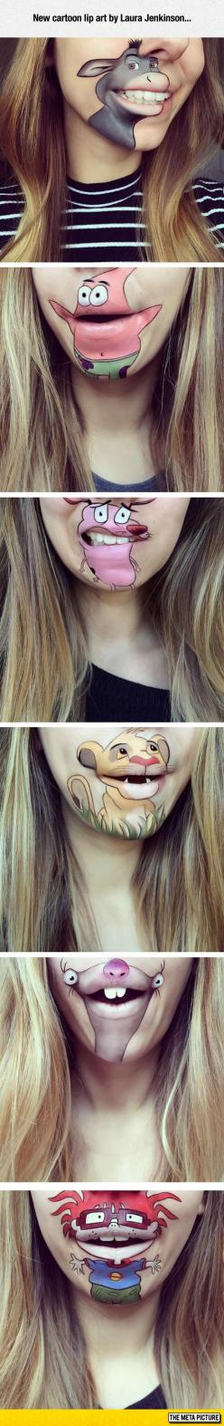 Amazing Cartoon Lip Art