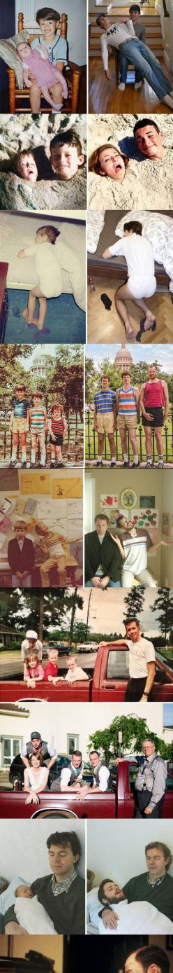 Before And After, Creative Recreations Of Childhood Photos