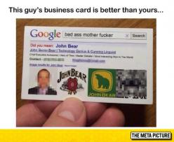 Probably The Best Business Card Ever