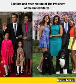 The Obamas Then And Now