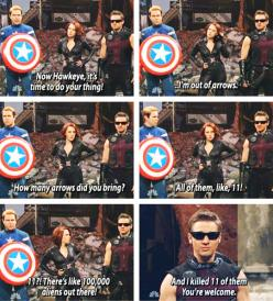 And That's The Way Hawkeye Rolls