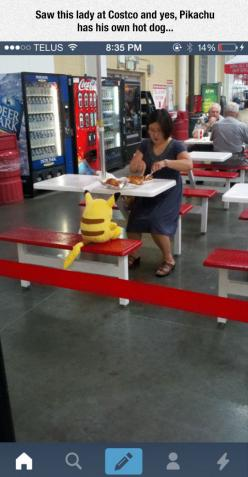 Eating With Pikachu