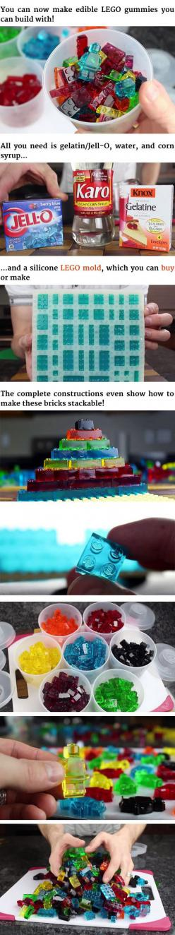 Edible And Stackable LEGO Gummy Candy