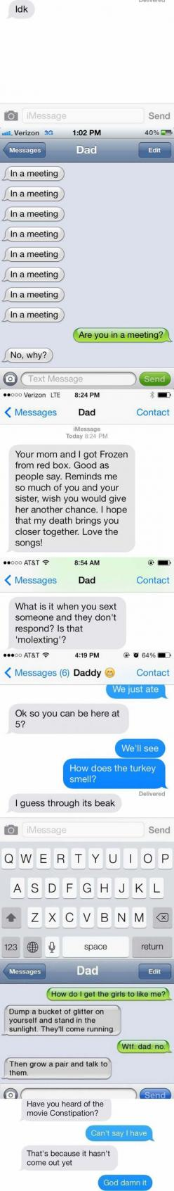 Epic Dad Texts Are Epic