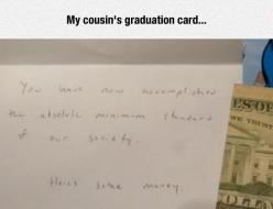 Graduation Card Gold