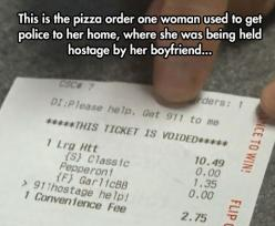 Pizza Order Reveals Hostage Situation