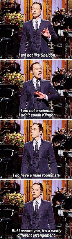 Jim Parsons Comparing Himself To Sheldon