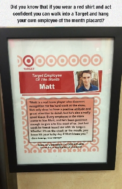 Target Employee Of The Month