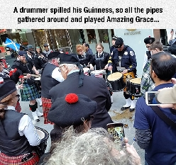 The Only Appropriate Response To Spilled Guinness, RIP