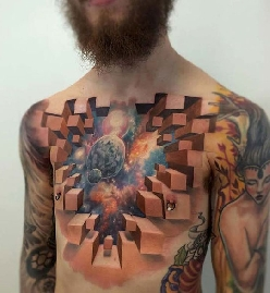 Awesome 3D Tattoo By Jesse Rix