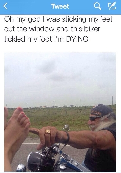 Beware of the foot-tickling bikers