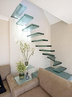 Classy glass stairs