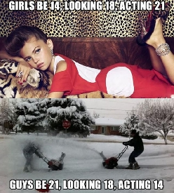 Difference between girls and guys