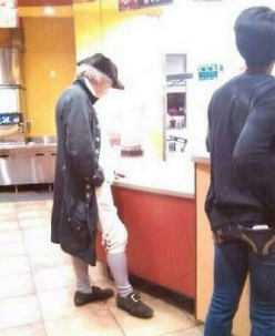 Dude's been waiting for his McFlurry since 1786
