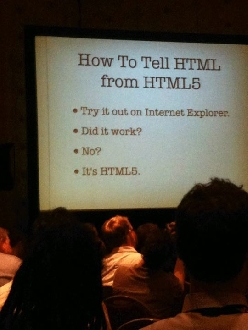 How to tell it's HTML5