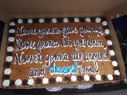My birthday is this weekend. This is my cake my girlfriend bought me.