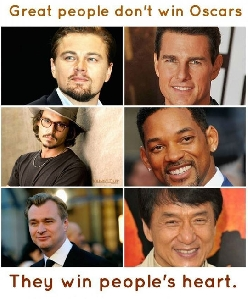 Real Actors Don't Need Oscars