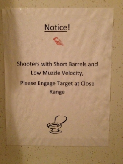 Shooting Range Bathroom