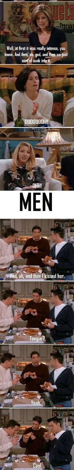 The Difference Between Men And Women Perfectly Explained By Friends