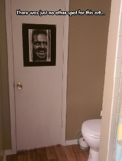 The Perfect Picture For A Bathroom Door