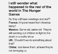 What happened to the rest of the world in The Hunger Games