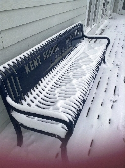 Wind made a double helix in the snow