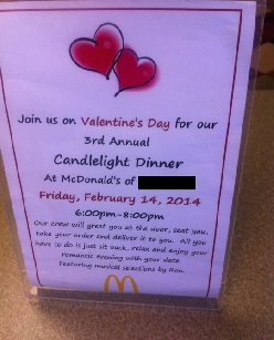 For those who don't have Valentine's Day plans yet
