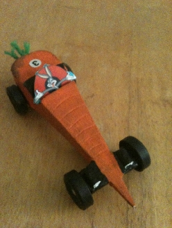 My sister's Pinewood Derby