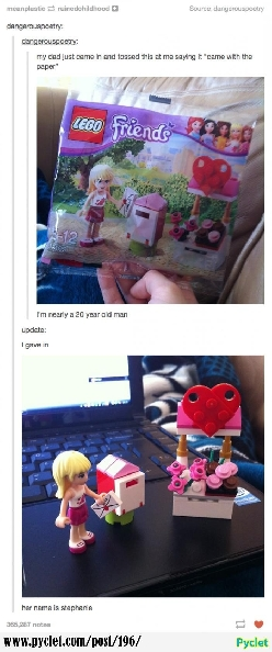 you never grow out of lego