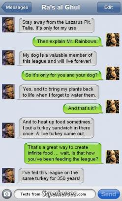 Texts From... Pt 1/?: Superheroes!