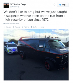 After 42 years, the A-Team was busted in West Yorkshire, UK