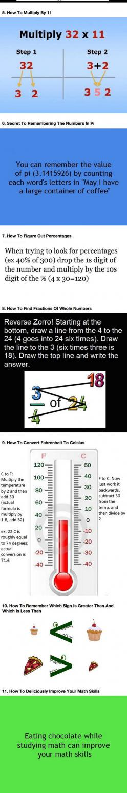 If You're Bad At Math Learn These Simple Tricks