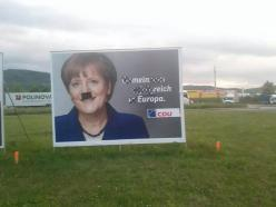 Meanwhile in Germany...you might think some Germans are frustrated by Angela Merkel