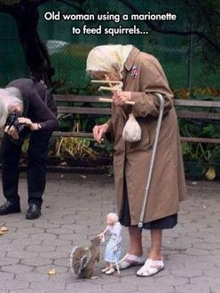 Puppeteer At Washington Square Park In NYC