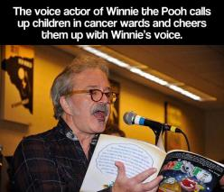 Winnie the Pooh's voice actor is a great guy