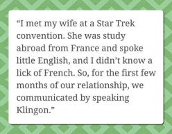 Meeting Someone At a Star Trek Convention