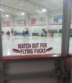 Beware of flying pucks