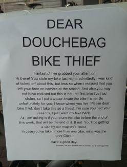 Dear Bike Thief