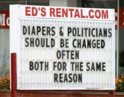Diapers Politicians sign