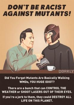 Equal treatment for all mutants.