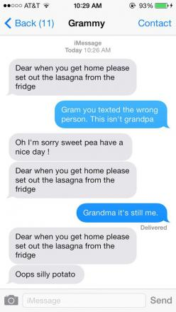 Grandma, you texted the wrong person