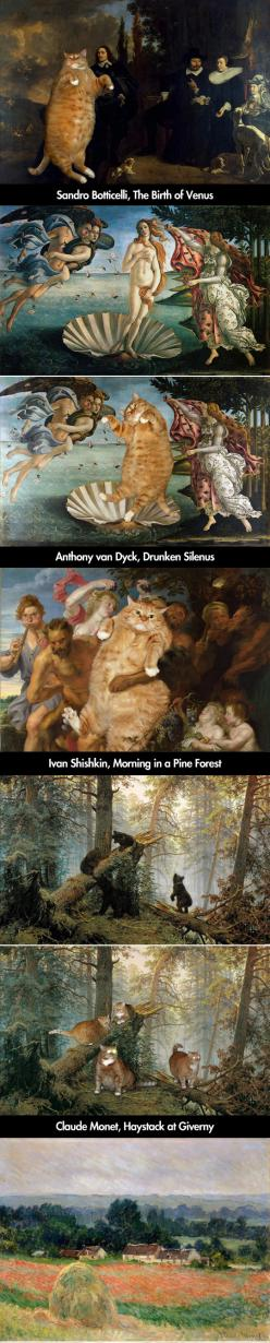 Paintings Improved by Cats