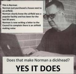 Seriously, shut up, Norman