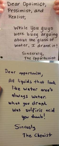 Sincerely, the chemist!
