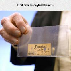The First Disneyland Admission Ticket